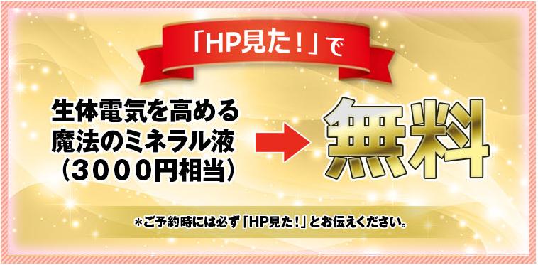 大阪堺市 バランス整体院エール 生体電気を高める魔法のミネラル液→無料