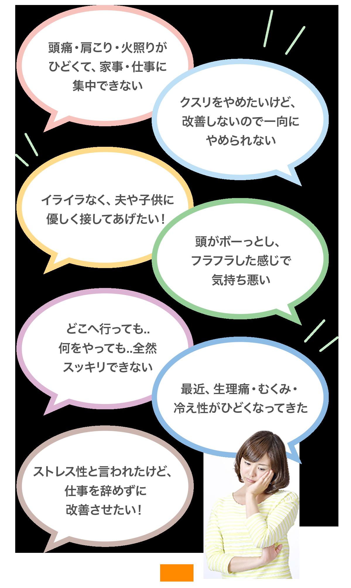 大阪堺市 バランス整体院エール お悩み症状